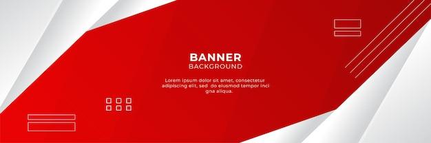 Streszczenie czerwony sztandar tła szablonu projektu ilustracji wektorowych z 3d nakładania się warstwy i geometrycznych kształtów fal. wielokątne abstrakcyjne tło, tekstura, układ reklamy i strona internetowa