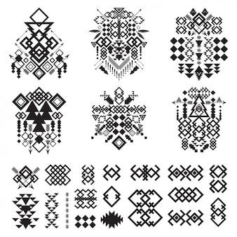 Streszczenie dekoracyjne kształty kolekcji