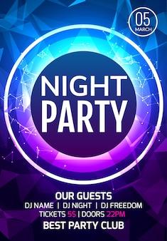Streszczenie disco dance party plakat broszura projekt backgorund. kreatywna ulotka muzyczna show rozrywkowy klub nocny.