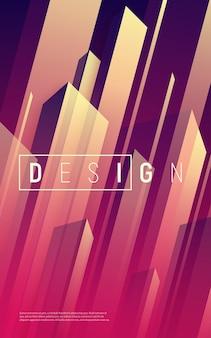 Streszczenie dynamiczne geometryczne tło, kolorowa minimalna okładka