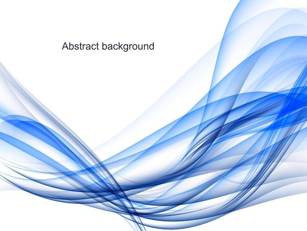 Streszczenie dynamiczne niebieskie tło, faliste linie na białym tle.