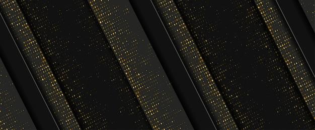 Streszczenie dynamiczne w stylu 3d luksusowe złote tło
