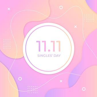Streszczenie dzień singli gradientu koncepcja