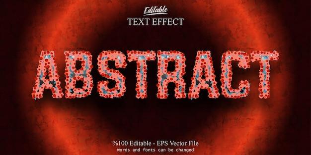 Streszczenie edytowalny efekt tekstowy wektor eps