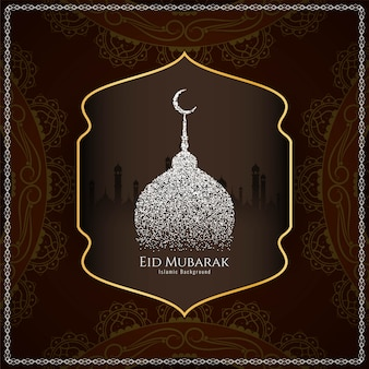 Streszczenie eid mubarak eleganckie tło islamskie
