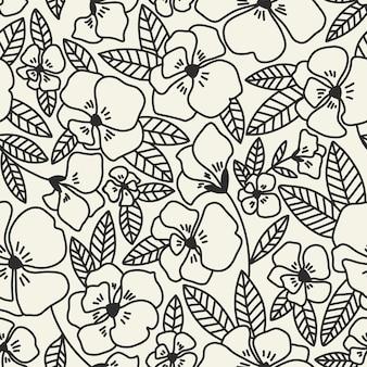 Streszczenie elegancja szwu z kwiatowym tłem. ilustracja wektorowa