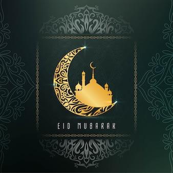 Streszczenie elegancki eid mubarak dekoracyjny