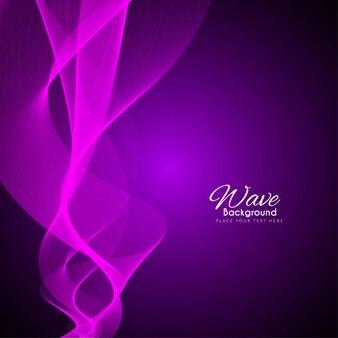 Streszczenie elegancki fioletowy kolor tła fali