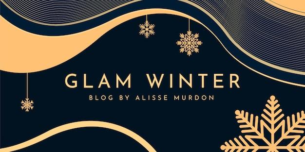 Streszczenie elegancki nagłówek bloga zimowego