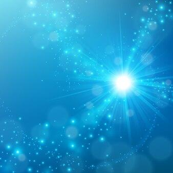 Streszczenie elegancki niebieski połysk tło