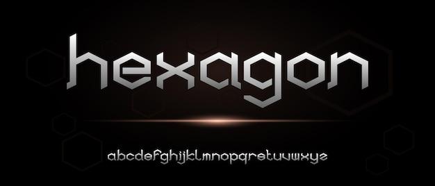Streszczenie elegancki nowoczesny alfabet z szablonem stylu miejskiego