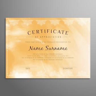 Streszczenie elegancki projekt certyfikatu