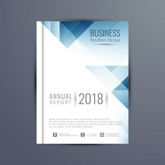 Streszczenie elegancki szablon biznes broszura