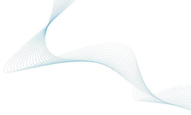 Streszczenie fala kolorowy z liniami na białym tle.