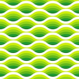 Streszczenie fale wzór w zielonych kolorach