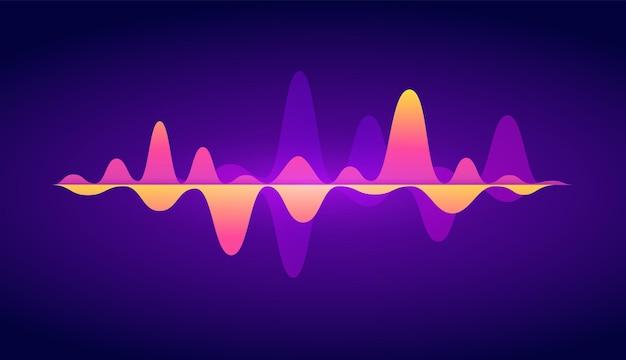 Streszczenie fali dźwiękowej muzyka korektor dźwięku tło wektor koncepcja