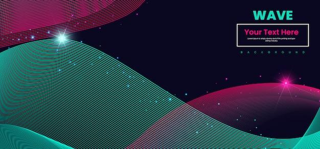 Streszczenie fali linii kolorowe tło