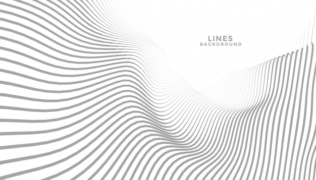 Streszczenie faliste linie płynące w tle perspektywy