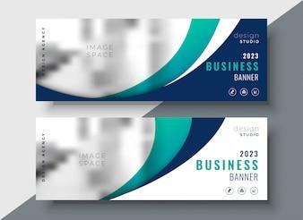 Streszczenie falisty biznes dwa bannery projektowanie
