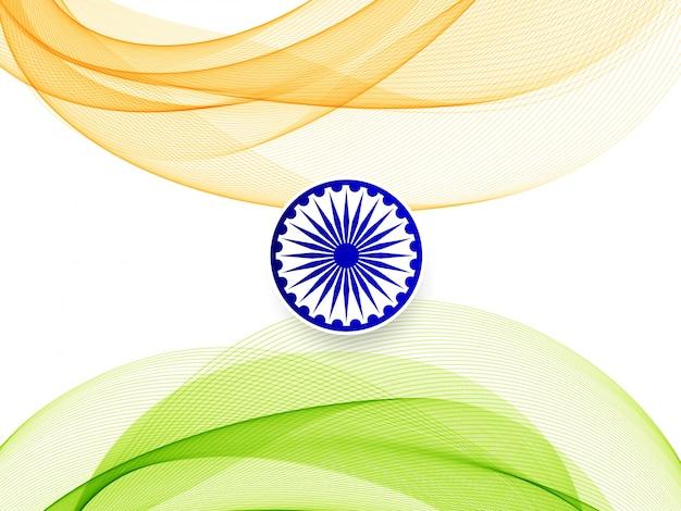 Streszczenie falisty indian banderą motyw stylowy tło