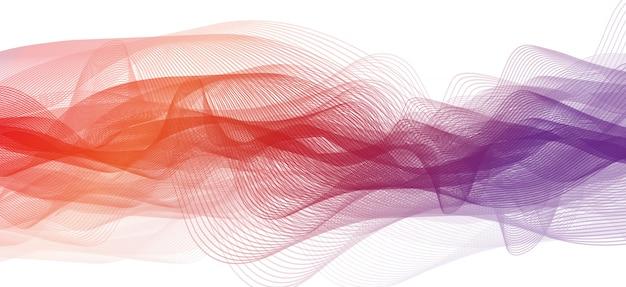 Streszczenie fioletowe i pomarańczowe tło fali dźwiękowej