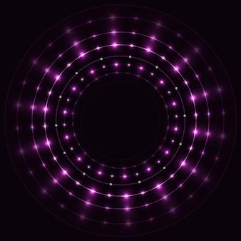 Streszczenie fioletowe okrągłe ramki