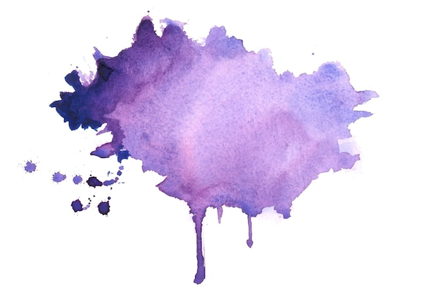 Streszczenie fioletowe plamy akwarela tekstury tła projekt