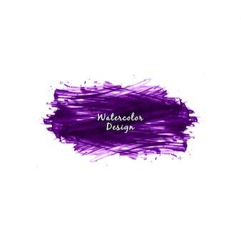Streszczenie fioletowe tło plamki akwarela