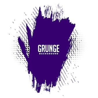 Streszczenie fioletowy atrament rozpryski grunge tekstury tła projektowania