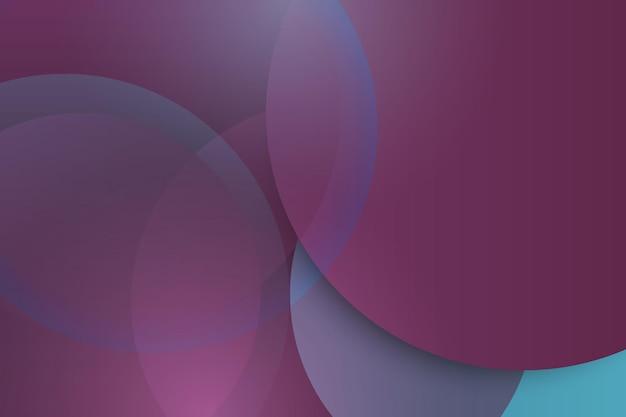 Streszczenie fioletowy i niebieski okrąg nakładające się warstwy tła. ilustracja wektorowa.