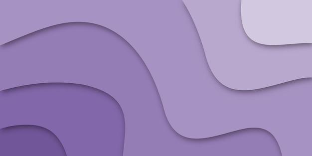 Streszczenie fioletowy papercut kreatywne kształty wektor