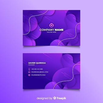 Streszczenie fioletowy szablon wizytówka