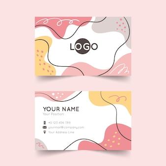 Streszczenie firmowa karta z malowanymi elementami