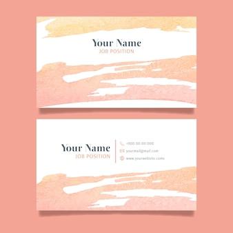 Streszczenie firmowa karta z ręcznie malowanymi elementami