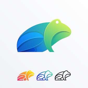 Streszczenie frog pełny kolor ilustracji wektor szablon projektu
