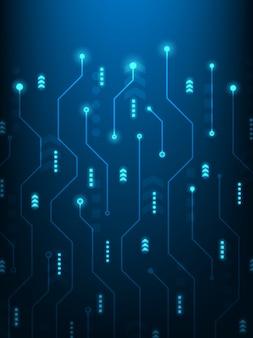 Streszczenie futurystyczna technologia tło