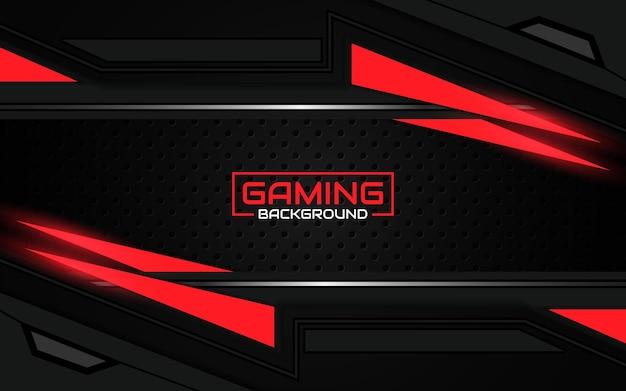 Streszczenie futurystyczne czarno-jasnoczerwone tło do gier