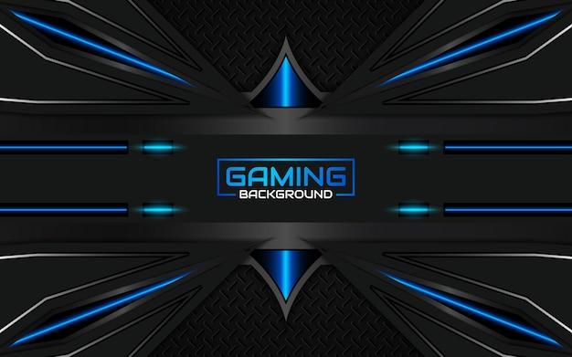 Streszczenie futurystyczne czarno-jasnoniebieskie tło do gier