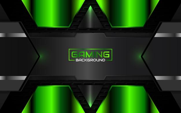 Streszczenie futurystyczne czarno-zielone tło gier