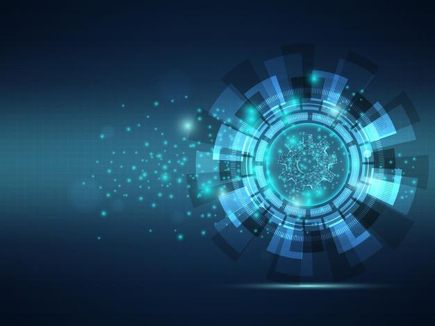 Streszczenie futurystyczne koło zębate z ilustracji wektorowych szkielet technologii tła