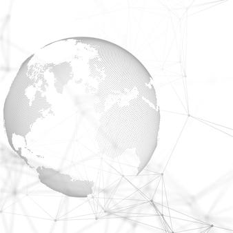 Streszczenie futurystyczne kształty sieci.
