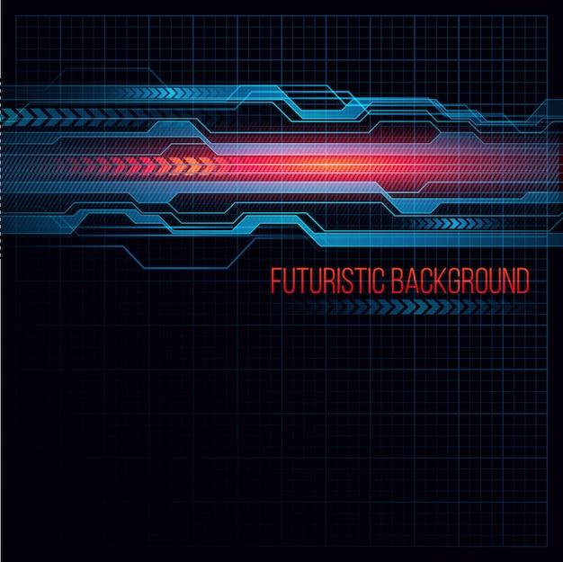 Streszczenie futurystyczne tło hud