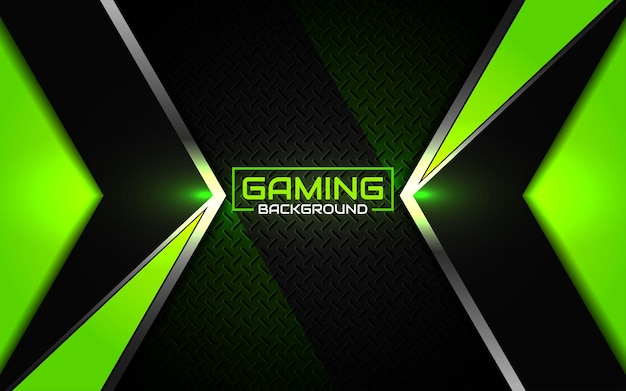 Streszczenie futurystyczny czarny i zielony tło do gier