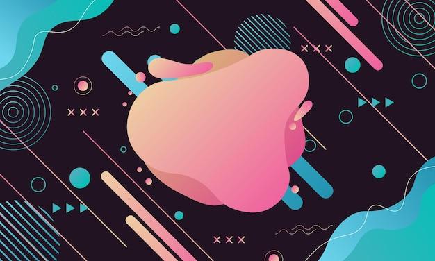 Streszczenie futurystyczny gradient geometryczny z płynnym tłem. projekt plakatu, banera stron internetowych.