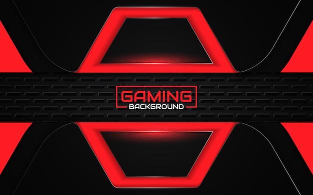 Streszczenie futurystyczny gry czarno-czerwone