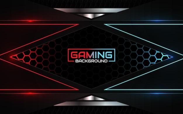 Streszczenie futurystyczny jasnoczerwony i niebieski tło gier