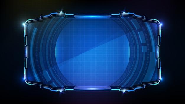 Streszczenie futurystyczny niebieski świecący technologii science fiction ramki hud ui