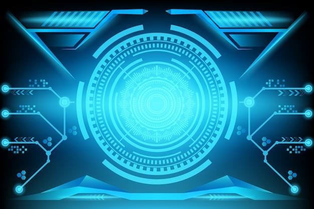 Streszczenie futurystyczny obwód technologia tło