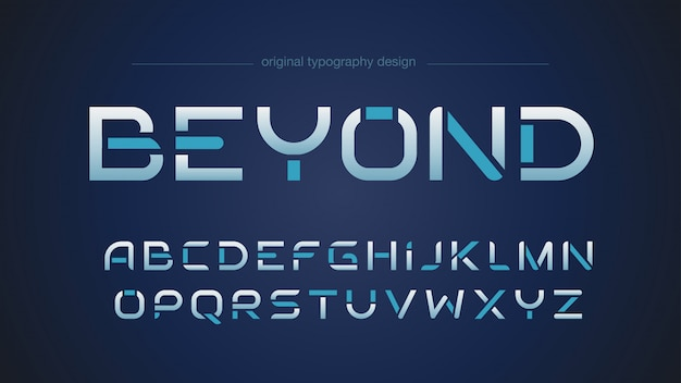 Streszczenie futurystyczny projekt typografii sportowej
