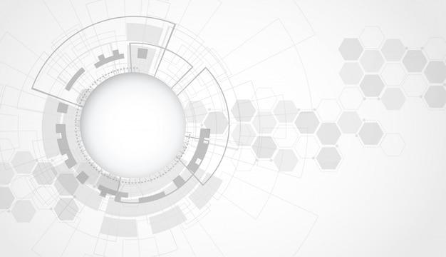 Streszczenie futurystyczny technologii cyfrowej koncepcji